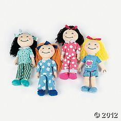 4 Slumber Party Yarn Hair Dolls @ Oriental Trading Co. Slumber Party Invitations, Slumber Party Birthday, Sleepover Party, Pajama Party, Slumber Parties, 10th Birthday, Birthday Party Themes, Girl Birthday, Birthday Ideas