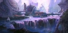 City on the water Concept by *JoshCalloway on deviantART