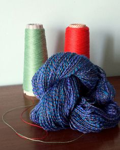 Handspun double thread ply Italian cotton yarn  di LANIVENDOLE, €30.00