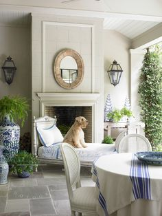 Adorable porch pooch | Emily Jenkins Followill Photography