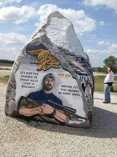 Chris Kyle Freedom Rock on Highway 25 near Greenfield, Iowa. Saw it many times. Lived 2 miles away for 13 years. Gi Joe, Usmc, Marines, Iowa, Chris Kyle, My Champion, Military Veterans, Military Man, Military Service