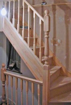Loft Conversion Stairs See deck railing at http://awoodrailing.com