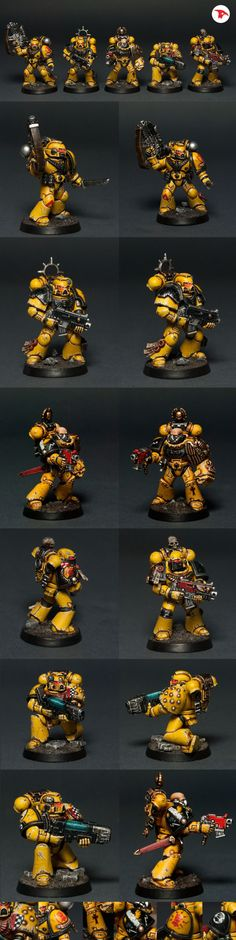 tylerdscott: Imperial Fists by Totem Pole on CoolMiniOrNot. Gorgeous, gorgeous models. The level of detail is staggering.