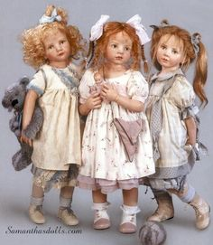 the three sisters (dolls by Hildegard Gunzel)