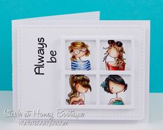 Honey Bootique: Stamping Bella DT Thursday! Stamping a portion of images.