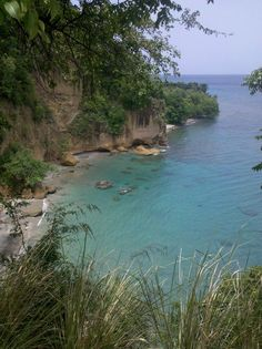 View from Secret Bay, Dominica, Nature Island of the Caribbean