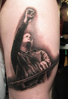 Jeff Healey Tattoo by Bob Tyrrell