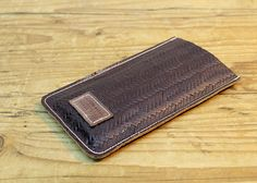 Check out Sale!!! Leather Phone Case, Leather Phone pouch, Handmade Accessories, Stamped Leather Phone Accessories Case for Iphone 4 on plgdesigns