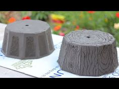 Casting cement pots from plastic pots Ver 2 - YouTube