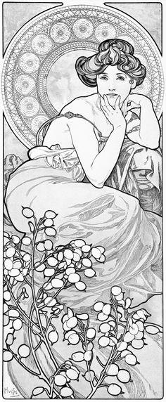 Amazon.com: Alphonse Mucha's Art Nouveau: A Vintage Coloring Book -Volume 1- (9781514395929): Alphonse Mucha, Sharpshin Press: Books