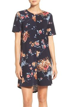 Charles Henry Floral Print Stretch Shift Dress available at #Nordstrom