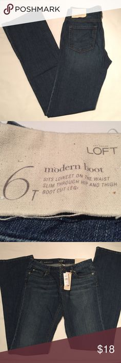 Ann Taylor LOFT - Modern Boot Jeans Brand new with tags attached. Tall fitting. *Bundle and SAVE! LOFT Jeans Boot Cut