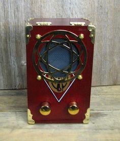 """C. B. Gitty All-wood Cigar Box Guitar Amplifier: """"CAO Gold Corona Gorda"""" - Little Handmade 9-volt Amp"""