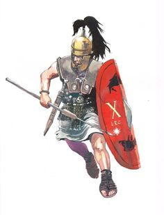 Roman legionary from the time of Julius Caesar - illustration de V. Pompetti