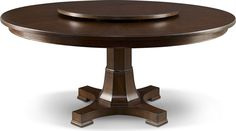 Adelaide Round Dining Table  Round tables don't play favorites. With no formal head of the table, everyone is equally at home. Not all tables, however, are created equal. Adelaide is a cut above. Note the beautiful faceted pedestal base and hand-rubbed finish. Do consider the optional Lazy Susan for easy self-service.
