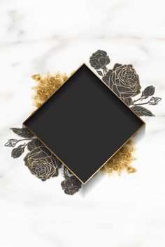 Download premium illustration of Blank golden floral frame vector about beautiful, black, black background, blank and blank space 1216058