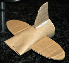 Fly me to the moon. Instructions for this easy to make plane that ends up in hours of fun for the kids.