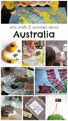 Arts, crafts and activities all about Australia! A fun roundup for kindergartners!