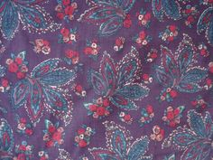 Vintage Floral and leaf print fabric width 145cm length 210cm