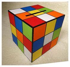 Urne d'anniversaire rubik's cube