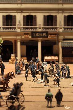 Miniature model of old Ginza-city in Edo Tokyo Musem #Tokyo #Japan