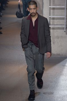 half placket, zip up | Lanvin Fall 2016 Menswear Fashion Show