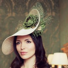 Gina Foster Millinery - Beeston - Large Rose Coulis