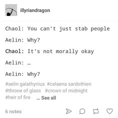 Aelin and Chaol