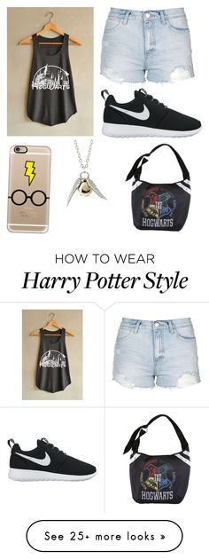 """""""Harry Potter"""" by ljbess1100 on Polyvore featuring Topshop, NIKE and Casetify"""