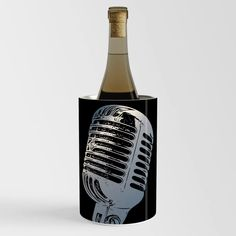 Vintage Microphone Pop Art Wine Chiller Wine Chillers, Vintage Microphone, Pop Art, Cool Stuff, Bottle, Flask, Art Pop, Jars