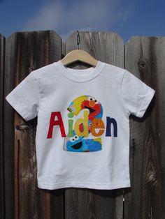 Personalized Birthday Shirt  Sesame Street by TheMommaFish on Etsy, $25.00