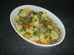 Rabbit and lamb slowly stewed with an assortment of root vegetables - a delicious and rustic dish