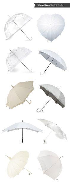 20 of the Best Wedding Umbrellas - White & Ivory Umbrellas
