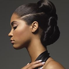 Beautiful updo hairstyle for African American women