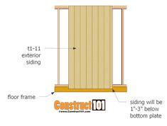 Below are step-by-step instructions to build a shed door. These shed door plans can easily be customized to fit most sheds. Shed House Plans, Shed Plans 12x16, Lean To Shed Plans, Free Shed Plans, Shed Door Hinges, Shed Doors, Barn Doors, Pallet Barn, Diy Pallet