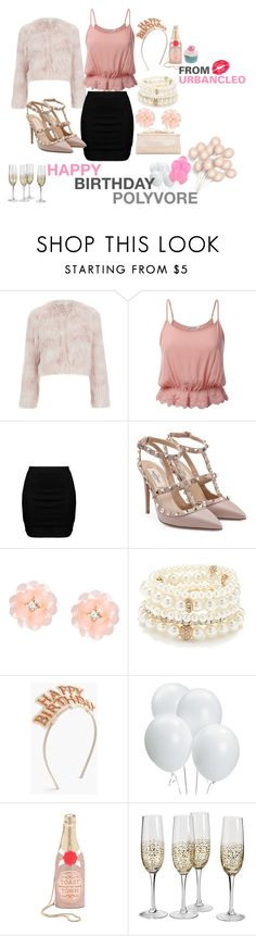 """HAPPY BIRTHDAY POLYVORE! Birthday Party Outfit"" by urbancleo ❤ liked on Polyvore featuring RED Valentino, Zizzi, Valentino, Dettagli, Forever 21, J.Crew, Kate Spade, Judith Leiber and GUESS"