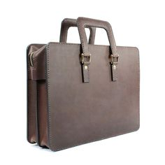 2102 top open leather briefcase - 05