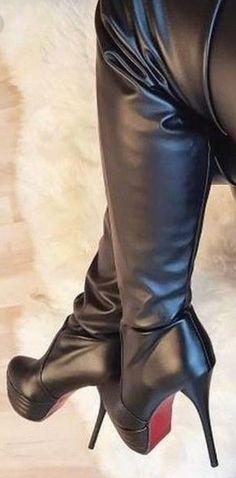 Thigh High Boots Heels, Hot High Heels, Platform High Heels, Sexy Heels, Heeled Boots, Sexy Boots, Cool Boots, Black Boots, High Heels Plateau