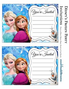 The remarkable Tips Frozen Birthday Party Invitations Designs Alluring Layout Frozen Party Free Printable Invitations Is It For Parties Is Read Free Frozen Invitations, Frozen Birthday Invitations, Free Printable Birthday Invitations, Party Invitations Kids, Frozen Birthday Party, Free Birthday, Card Birthday, Birthday Bash, Invitation Cards