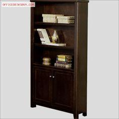 Kathy Ireland Home by Martin Furniture Tribeca Loft Bookcase in Cherry - http://officedesksbuy.com/kathy-ireland-home-by-martin-furniture-tribeca-loft-bookcase-in-cherry.html
