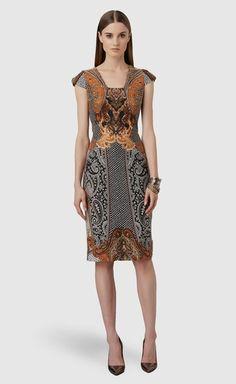 Paisley Sheath Dress from David Meister on shop.CatalogSpree.com, your personal digital mall.