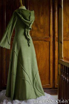Alternative Clothing - Indigo Coat - Faery - Alienskin Clothing: Hand made