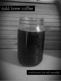 Super easy method for making cold brew coffee!