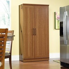 Sauder 411965 HomePlus Storage Cabinet, L: x W: x H: Sienna Oak Finish Pantry Storage Cabinet, Cupboard Shelves, Storage Cabinets, Cabinet Doors, Kitchen Storage, Dvd Storage, Modular Storage, Small Storage, Cupboards