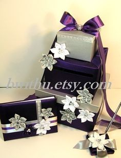 Wedding Guest Book and Pen Set Custom Made by bwithustudio on Etsy,