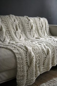 this blanket looks like it is dying for a Sunday afternoon nap with me