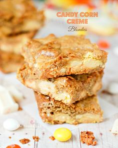 Candy Corn Creme Blondies