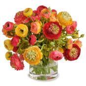 "Ranunculus Mixed Bouquet 14"" Diameter $558"