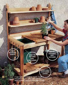 potting bench with sink - Bing Afbeeldingen