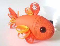 Orange Goldfisch Ornament Weihnachtsdekoration Goldfische